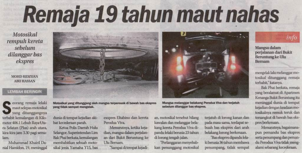 Keratan Akhbar Pilihan Video Tular Kes Polis Diraja Malaysia Royal Malaysia Police Facebook